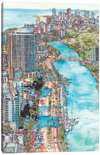 Miami Cityscape Canvas Art Print