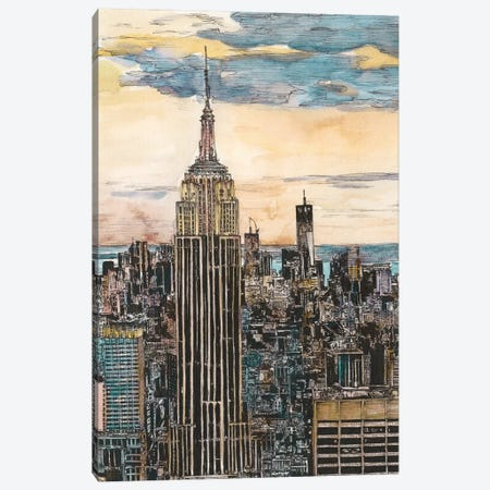 NYC Cityscape Canvas Print #WNG452} by Melissa Wang Canvas Art Print