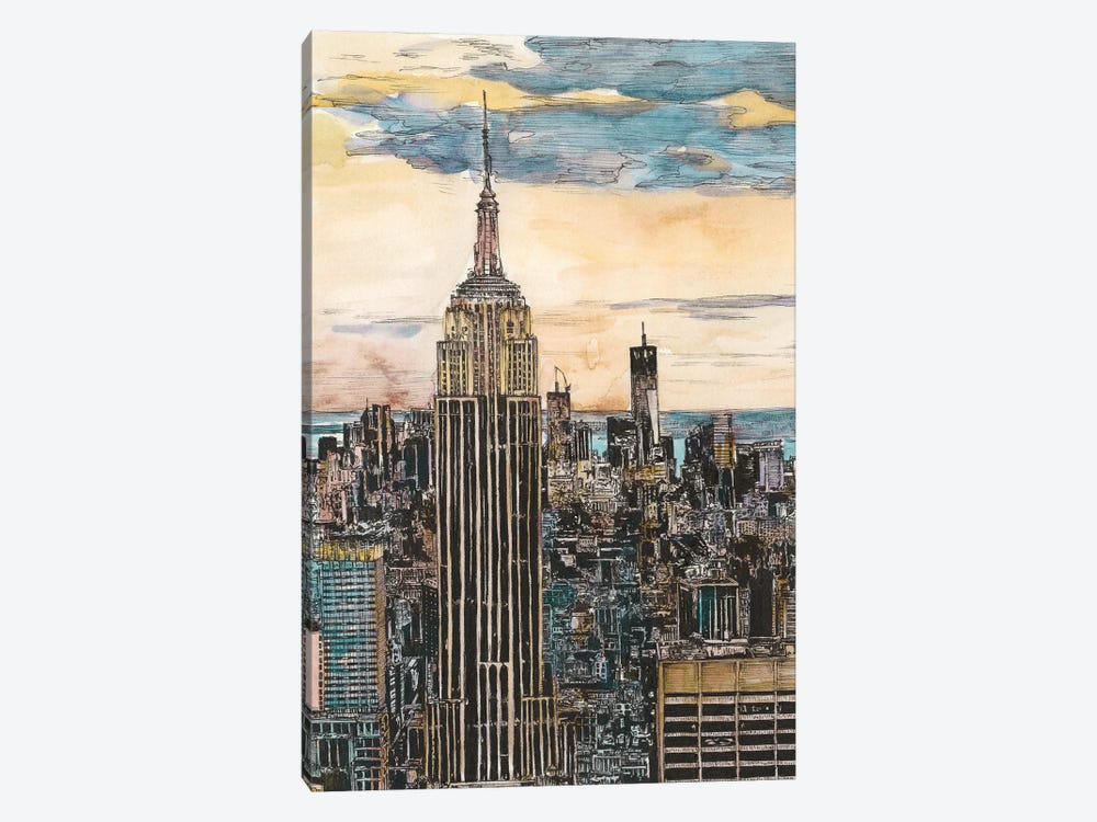 NYC Cityscape by Melissa Wang 1-piece Canvas Print