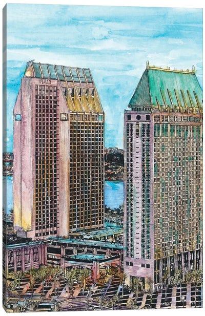 San Diego Cityscape Canvas Art Print
