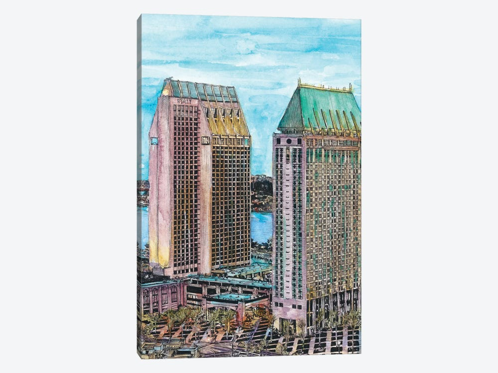 San Diego Cityscape by Melissa Wang 1-piece Art Print