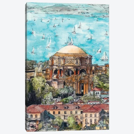 San Francisco Cityscape Canvas Print #WNG455} by Melissa Wang Canvas Artwork