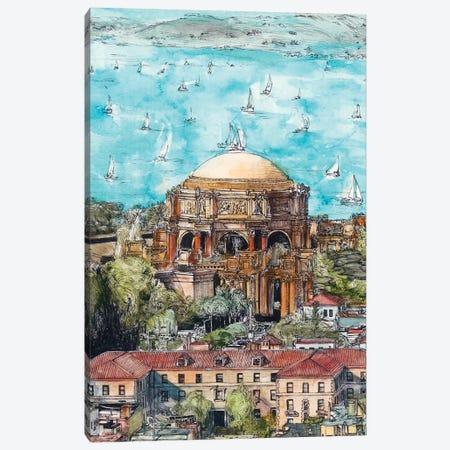 San Francisco Cityscape 3-Piece Canvas #WNG455} by Melissa Wang Canvas Artwork