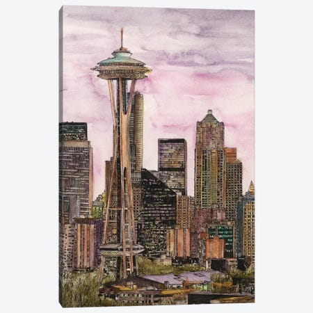 Seattle Cityscape Canvas Print #WNG456} by Melissa Wang Canvas Art