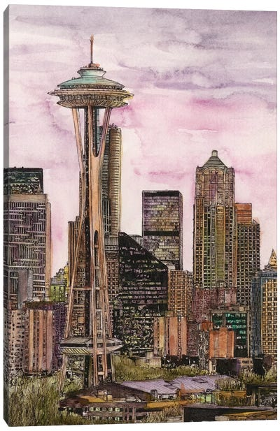 Seattle Cityscape Canvas Art Print