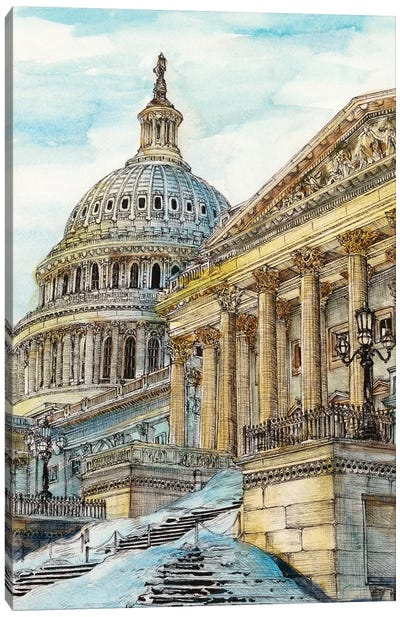 Washington DC Cityscape Canvas Art Print