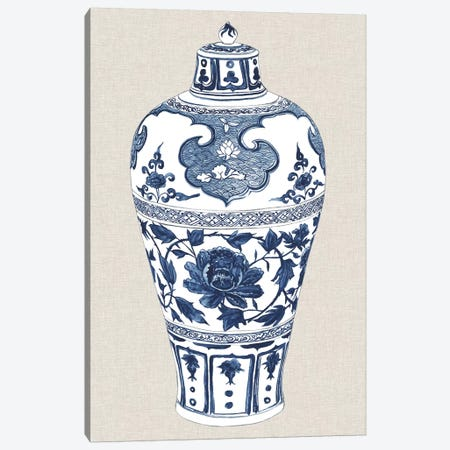 Antique Chinese Vase I Canvas Print #WNG469} by Melissa Wang Canvas Artwork