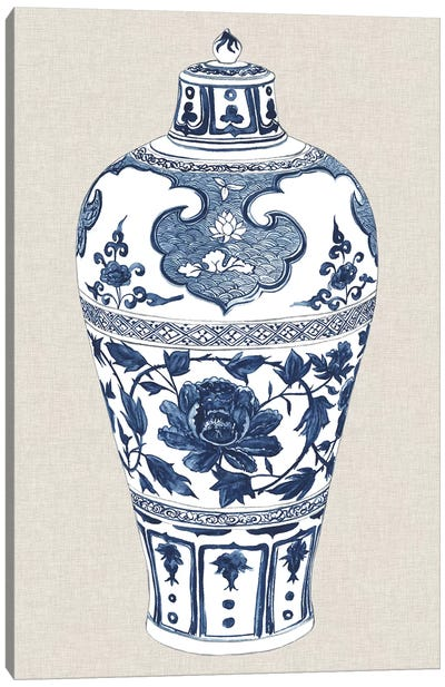 Antique Chinese Vase I Canvas Art Print