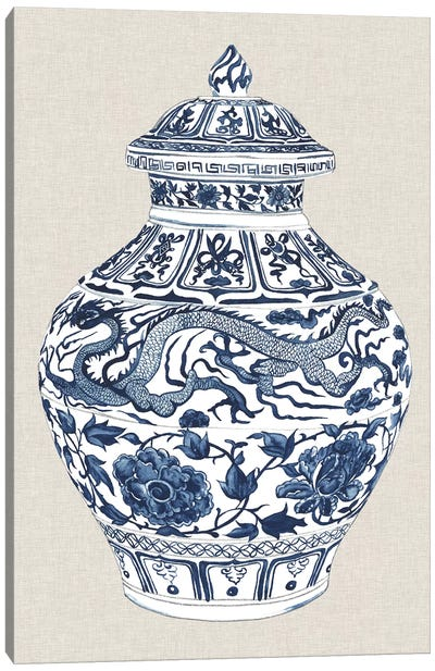 Antique Chinese Vase III Canvas Art Print