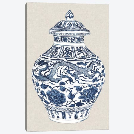 Antique Chinese Vase III 3-Piece Canvas #WNG471} by Melissa Wang Art Print