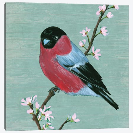 Bird & Blossoms I Canvas Print #WNG478} by Melissa Wang Canvas Print