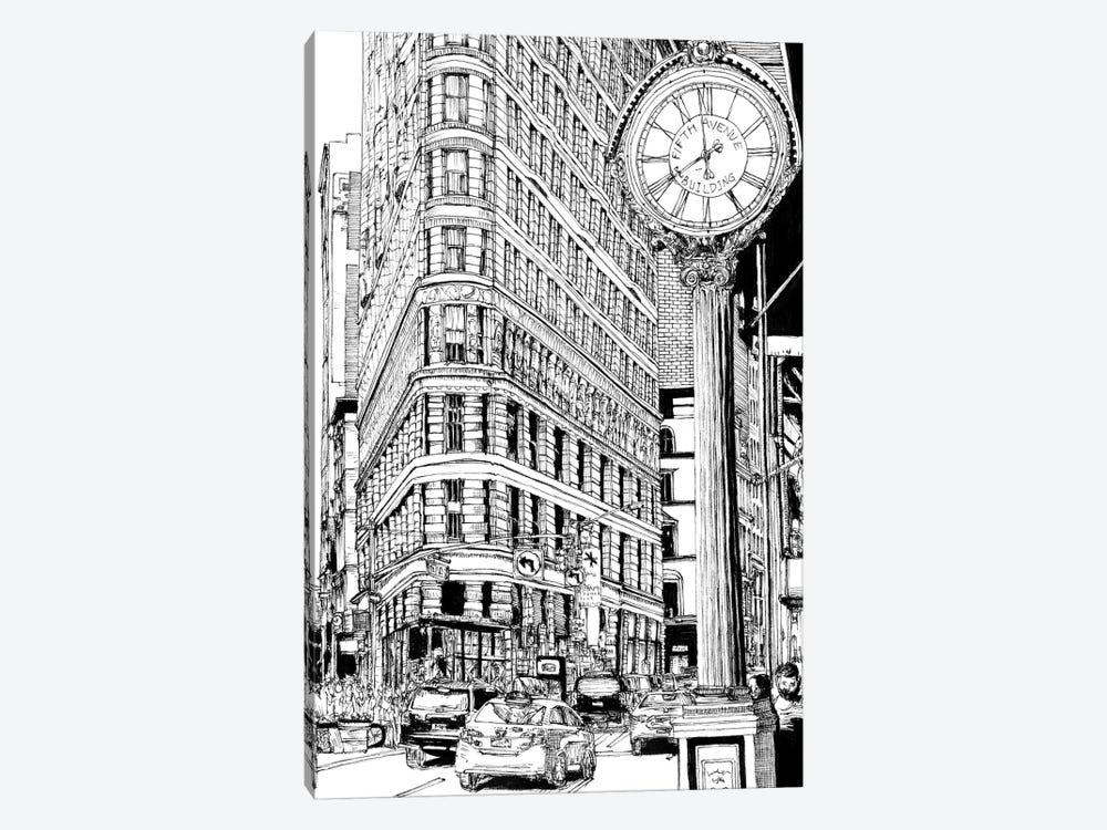 B&W City Scene VII by Melissa Wang 1-piece Art Print