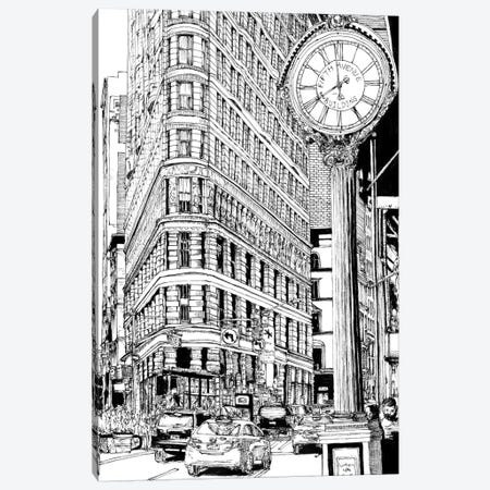 B&W City Scene VII Canvas Print #WNG47} by Melissa Wang Canvas Artwork