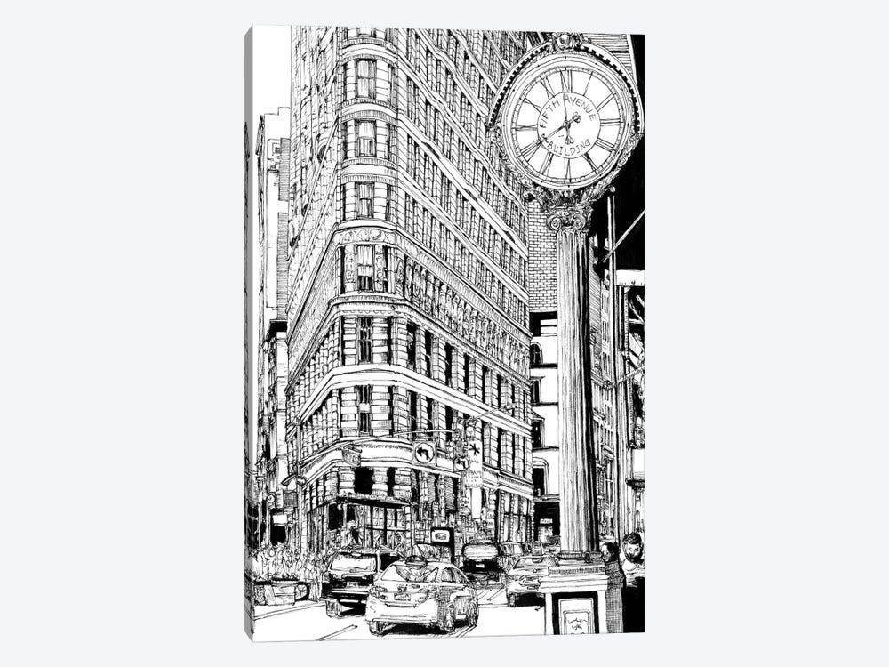 B&W City Scene VII by Melissa Wang 1-piece Art Print