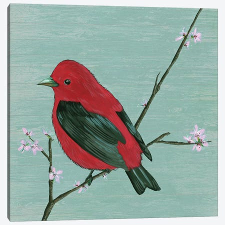 Bird & Blossoms III Canvas Print #WNG480} by Melissa Wang Canvas Artwork