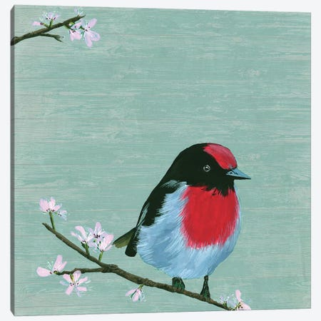 Bird & Blossoms IV Canvas Print #WNG481} by Melissa Wang Canvas Wall Art
