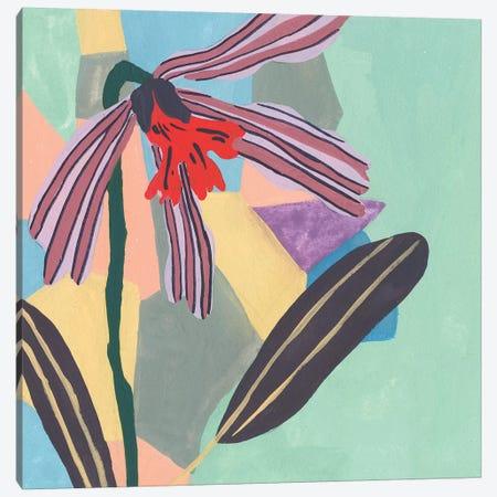 Corner Flower I Canvas Print #WNG482} by Melissa Wang Canvas Artwork