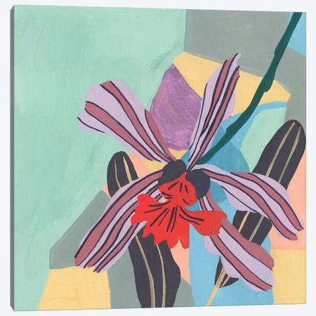 Corner Flower II Canvas Print #WNG483} by Melissa Wang Canvas Artwork