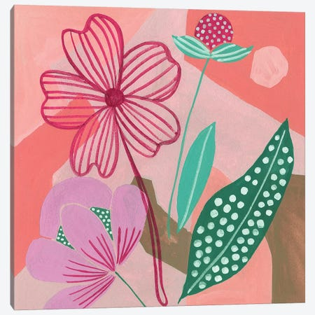 Dancing Bouquet II Canvas Print #WNG485} by Melissa Wang Canvas Art Print