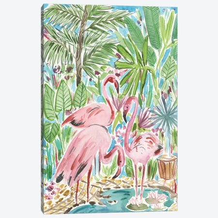 Flamingo Paradise II Canvas Print #WNG493} by Melissa Wang Art Print
