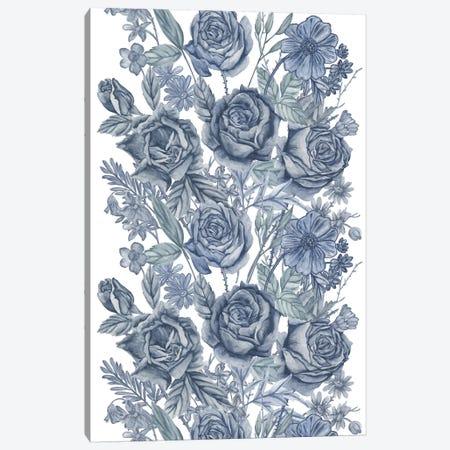 Ice Blue Botanical I Canvas Print #WNG496} by Melissa Wang Canvas Art