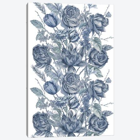 Ice Blue Botanical II Canvas Print #WNG497} by Melissa Wang Canvas Wall Art