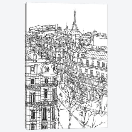 B&W City Scene IX Canvas Print #WNG49} by Melissa Wang Art Print