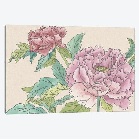 Peony Blooms I Canvas Print #WNG508} by Melissa Wang Art Print