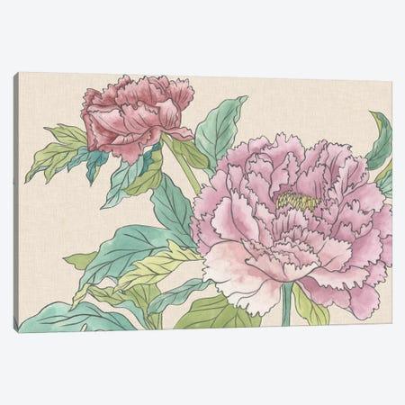 Peony Blooms I Canvas Print #WNG508} by Melissa Wang Art Print