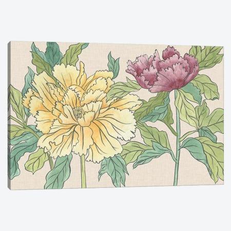 Peony Blooms II Canvas Print #WNG509} by Melissa Wang Canvas Print