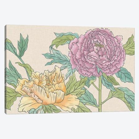 Peony Blooms III Canvas Print #WNG510} by Melissa Wang Canvas Artwork