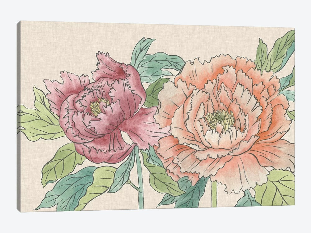 Peony Blooms IV by Melissa Wang 1-piece Canvas Art Print