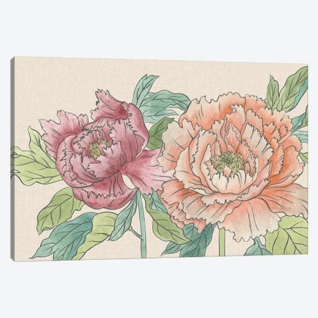 Peony Blooms IV Canvas Print #WNG511} by Melissa Wang Canvas Artwork