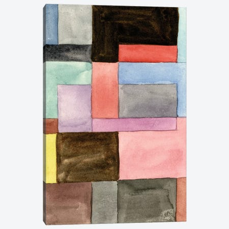 Primary Blocks II 3-Piece Canvas #WNG513} by Melissa Wang Canvas Artwork