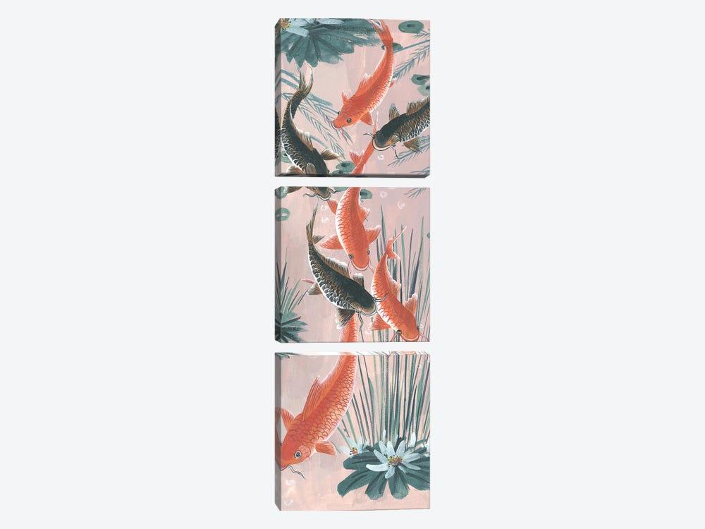 Traditional Koi Pond I by Melissa Wang 3-piece Art Print
