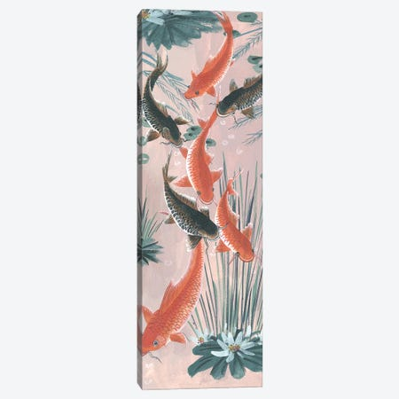 Traditional Koi Pond I Canvas Print #WNG524} by Melissa Wang Canvas Wall Art
