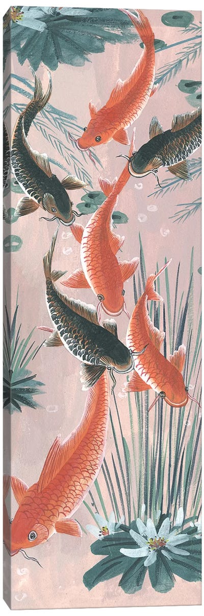 Traditional Koi Pond I Canvas Art Print