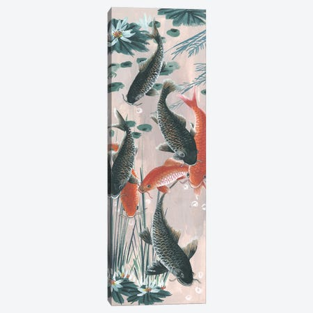 Traditional Koi Pond II Canvas Print #WNG525} by Melissa Wang Canvas Wall Art