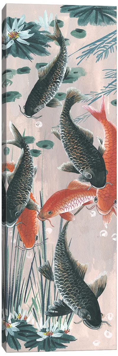 Traditional Koi Pond II Canvas Art Print