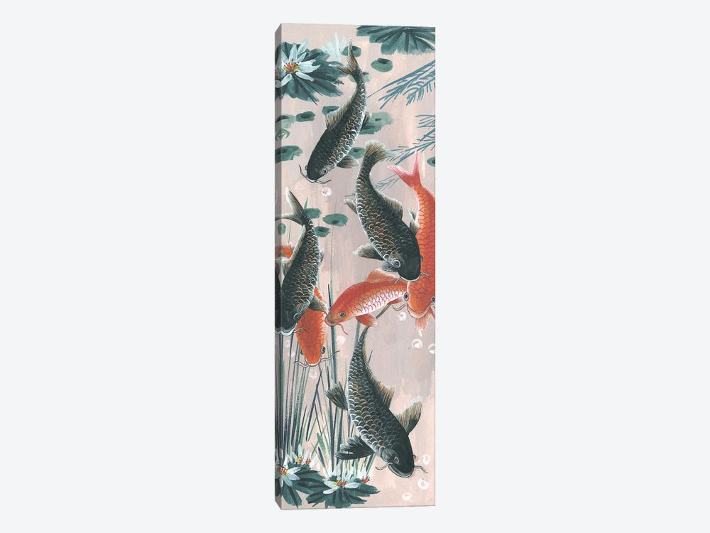 Traditional Koi Pond II by Melissa Wang 1-piece Canvas Artwork
