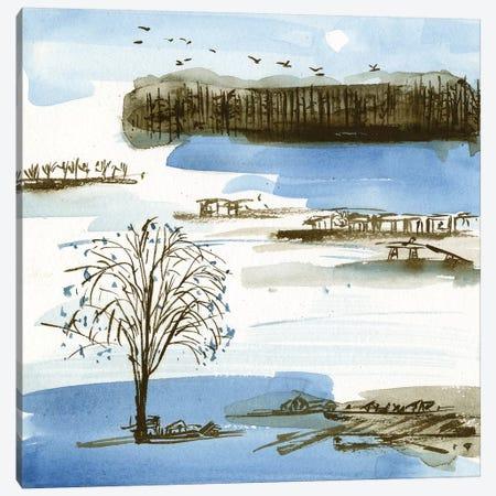 Village Peak I Canvas Print #WNG532} by Melissa Wang Canvas Artwork