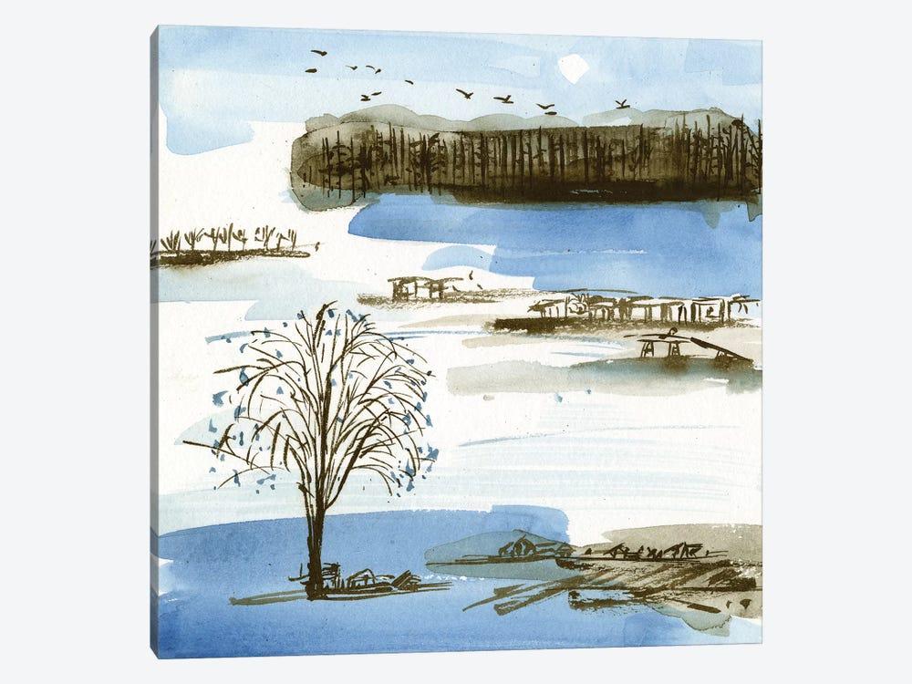 Village Peak I by Melissa Wang 1-piece Canvas Art