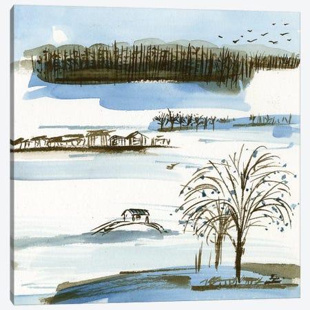 Village Peak II Canvas Print #WNG533} by Melissa Wang Canvas Artwork