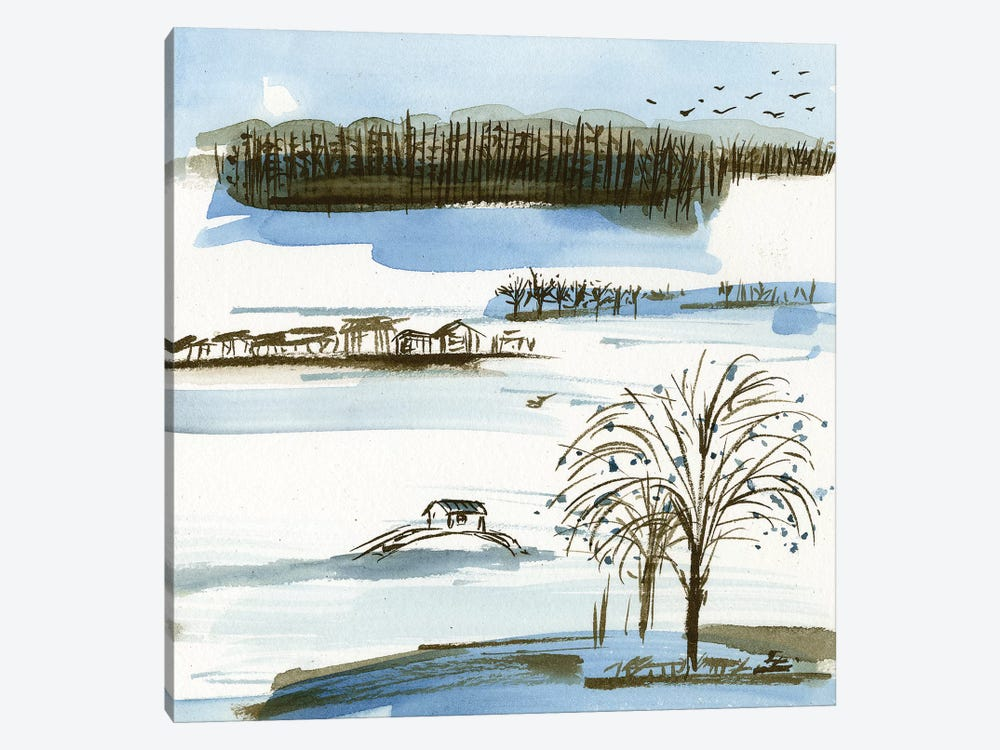 Village Peak II by Melissa Wang 1-piece Art Print