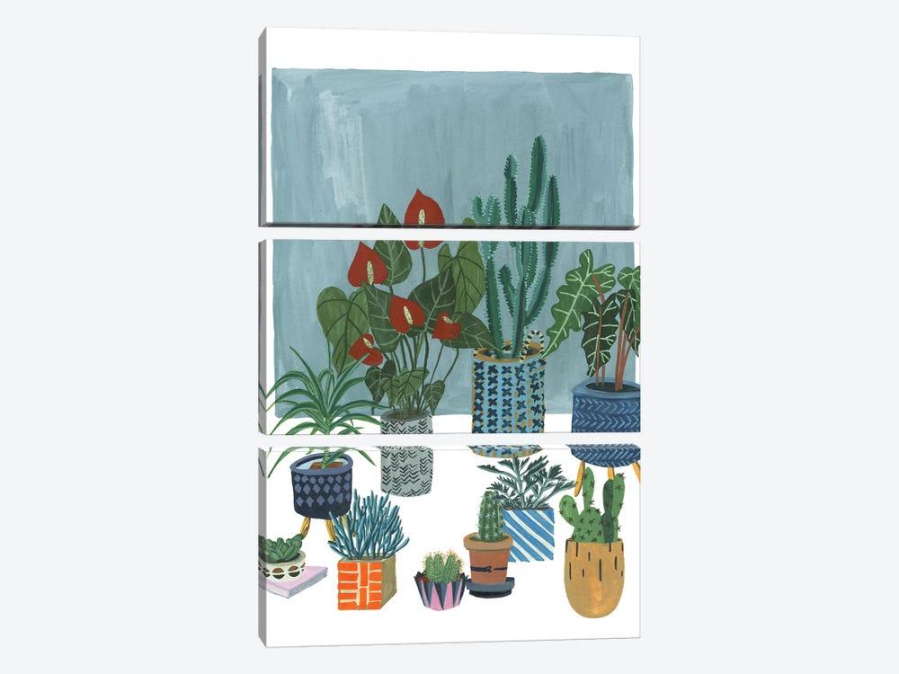 A Portrait Of Plants I by Melissa Wang 3-piece Canvas Wall Art