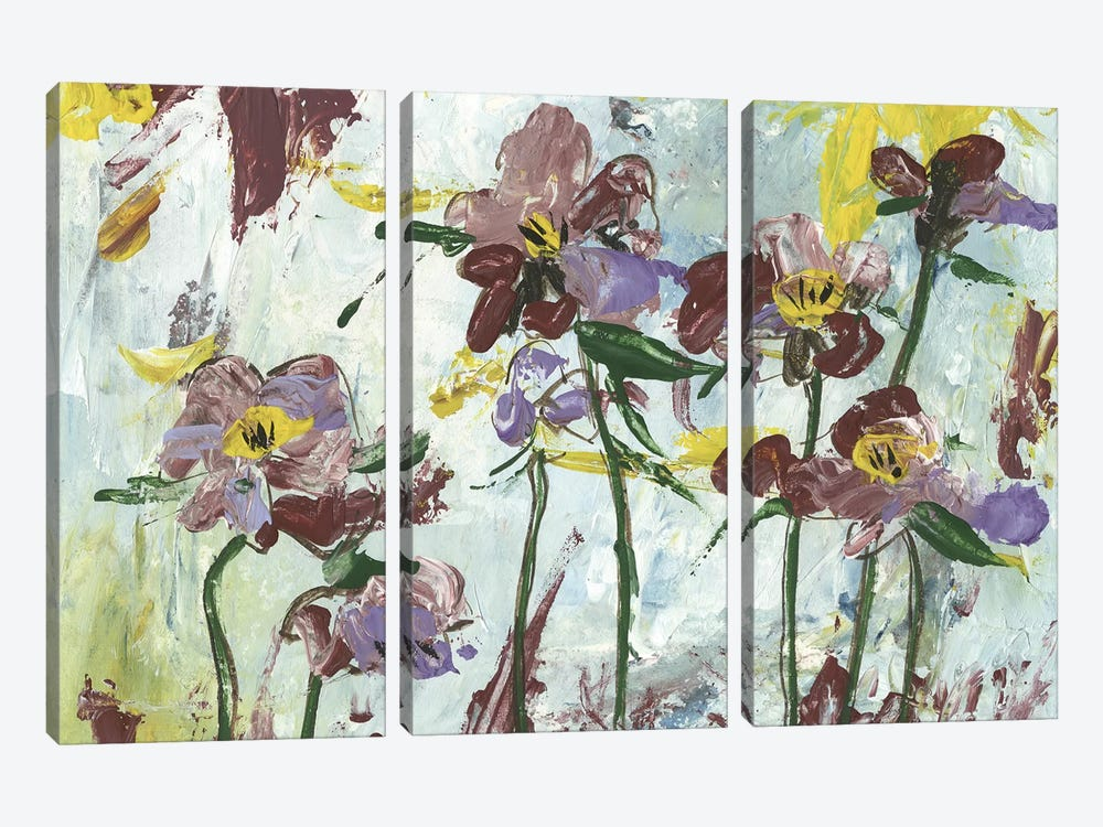 L'orchidee I by Melissa Wang 3-piece Canvas Wall Art