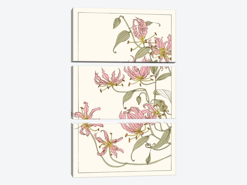 Botanical Gloriosa Lily I by Melissa Wang 3-piece Canvas Artwork