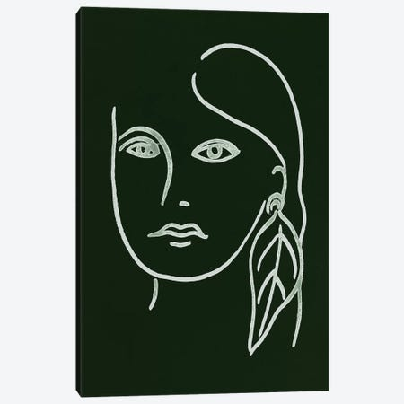 Malachite Portrait I Canvas Print #WNG585} by Melissa Wang Canvas Wall Art