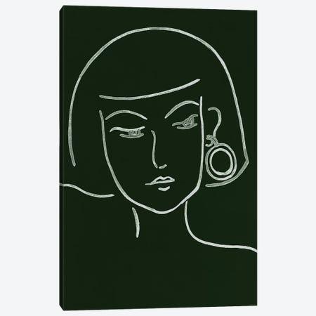 Malachite Portrait II Canvas Print #WNG586} by Melissa Wang Canvas Art