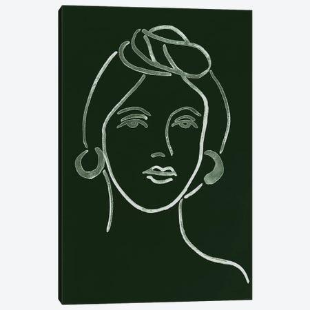 Malachite Portrait V Canvas Print #WNG589} by Melissa Wang Art Print